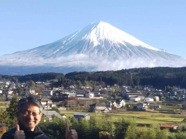 富士山と馬場口さん