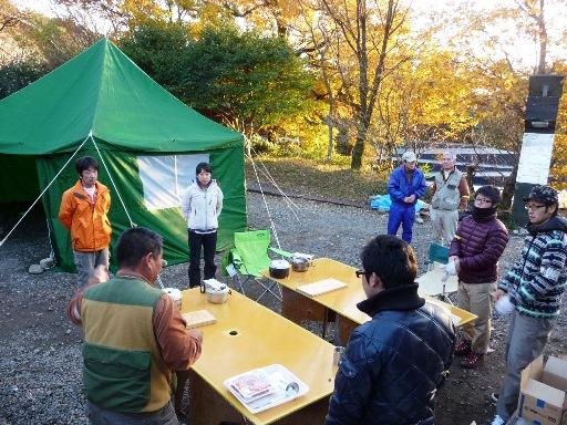 キャンプ研修風景