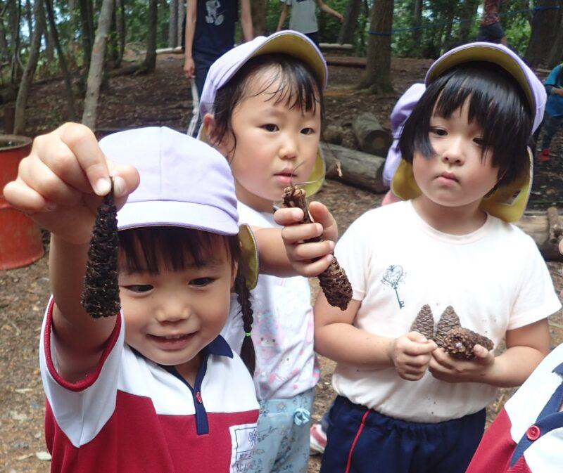 エビフライを見つけた子どもたち