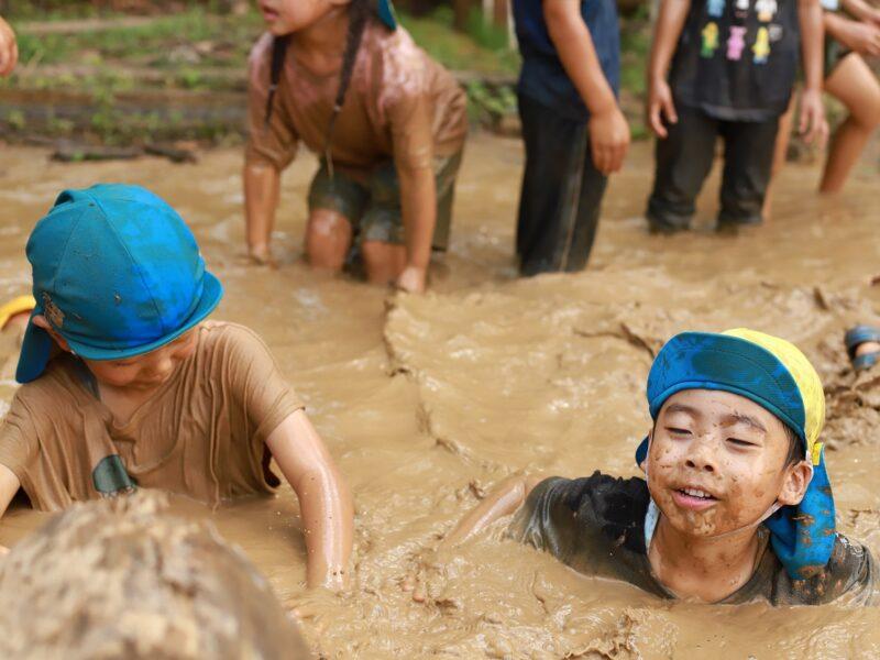 泥遊びー3